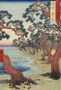 Harima--Maiko Beach (Hiroshige) - Muzeo.com