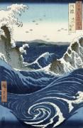 View of the Naruto whirlpools at Awa (Hiroshige) - Muzeo.com