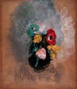 Anemones and Tulipes (Odilon Redon) - Muzeo.com
