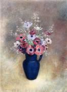 Anemones in a Jug (Odilon Redon) - Muzeo.com
