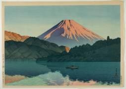 Lake Ashino, Hakone, 1935 (Kawase Hasui) - Muzeo.com