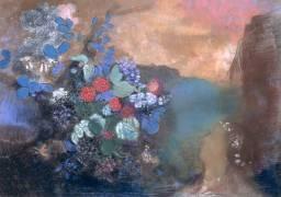 Ophelia among the Flowers (Odilon Redon) - Muzeo.com