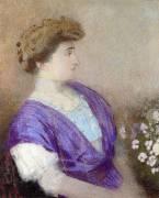 Portrait of the Maquise de Gonet (Odilon Redon) - Muzeo.com