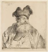 Vieillard à barbe carrée et au bonnet fendu (Rembrandt Harmensz van Rijn) - Muzeo.com