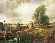 A Boat Passing a Lock (John Constable) - Muzeo.com