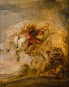 Bellérophon sur Pégase transperce la Chimère (Peter Paul Rubens) - Muzeo.com