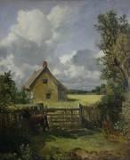Cottage in a Cornfield (John Constable) - Muzeo.com