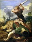 David killing Goliath (Pietro da Cortona) - Muzeo.com