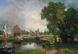 Dedham Lock and Mill, 1820 (John Constable) - Muzeo.com