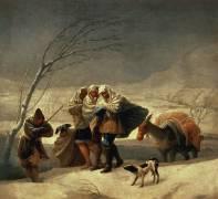 The Snowstorm (Francisco de Goya) - Muzeo.com