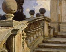A Balustrade (John Singer Sargent) - Muzeo.com