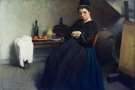 A Breton Interior (Roderic O'Conor) - Muzeo.com