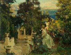 A Garden in Corfu (John Singer Sargent) - Muzeo.com