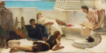A Reading from Homer (Lawrence Alma-Tadema) - Muzeo.com