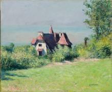 A Villa at Trouville (Gustave Caillebotte) - Muzeo.com