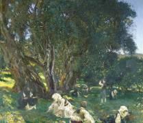 Albanian Olive Gatherers (John Singer Sargent) - Muzeo.com