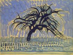 Apple Tree in Blue (Mondrian Piet) - Muzeo.com