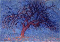Avond (Evening): The Red Tree (Piet Mondrian) - Muzeo.com