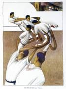 Basque Pelota (Les Pelotaris par Tobeen) (Robert Delaunay) - Muzeo.com