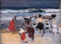 Beach at Biarritz (Sorolla y Bastida Joaquin) - Muzeo.com