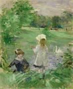 Beside a Lake (Berthe Morisot) - Muzeo.com