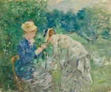 Beside the Lake (Berthe Morisot) - Muzeo.com