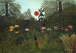 Black Man attacked by a Jaguar (Henri Rousseau) - Muzeo.com