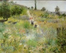 Chemin montant dans les hautes herbes (Renoir Auguste) - Muzeo.com