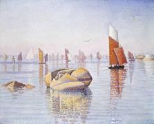 Conarneau, Quiet Morning (Paul Signac) - Muzeo.com