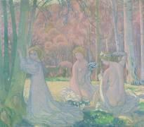 Figures in a Spring Landscape (Maurice Denis) - Muzeo.com