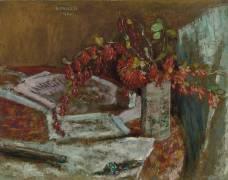 Flower Bouquet on a Table (Pierre Bonnard) - Muzeo.com