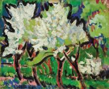 Flowering Trees (Ernst Ludwig Kirchner) - Muzeo.com