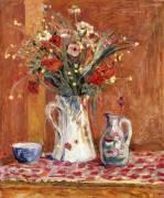 Flowers with Pottery (Pierre Bonnard) - Muzeo.com