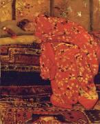 Girl in a Red Kimono (George Hendrik Breitner) - Muzeo.com