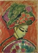 Girl in Turban (Alexej von Jawlensky) - Muzeo.com