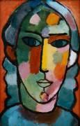 Girl's Head (Alexej von Jawlensky) - Muzeo.com