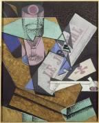 Glass and Newspaper (Juan Gris) - Muzeo.com