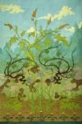 Goldenrod and Mauve Irises (Paul-Elie Ranson) - Muzeo.com