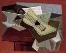 Guitar and Newspaper (Juan Gris) - Muzeo.com