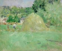 Haystacks at Bougival (Berthe Morisot) - Muzeo.com