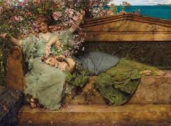 In a Rose Garden (Lawrence Alma-Tadema) - Muzeo.com