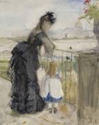 In the Balcony (Berthe Morisot) - Muzeo.com