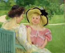 In the Garden (Mary Cassatt) - Muzeo.com