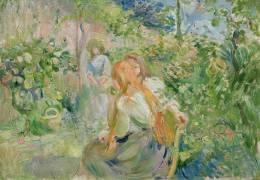 In the Garden at Roche-Plate (Berthe Morisot) - Muzeo.com