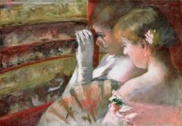 In the Loge (Mary Cassatt) - Muzeo.com