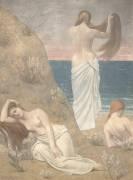 Jeunes filles au bord de la mer (Pierre Puvis de Chavannes) - Muzeo.com