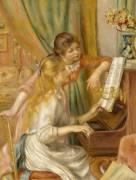 Jeunes filles au piano (Auguste Renoir) - Muzeo.com