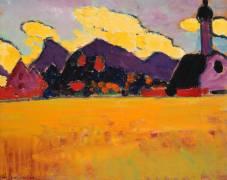 Landscape near Murnau (Alexej von Jawlensky) - Muzeo.com