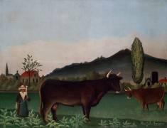 Landscape with Cow (Henri Rousseau) - Muzeo.com