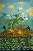 Lilies; Purple and Yellow Irises (Paul-Elie Ranson) - Muzeo.com